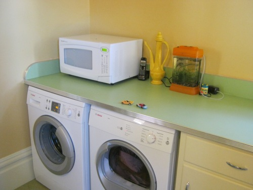 this is the laundry center...with folding counter on top