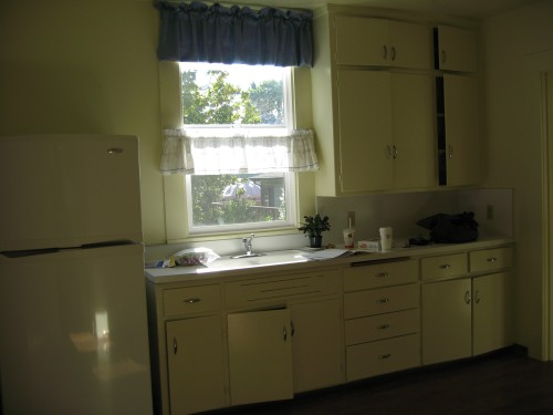 This side of the kitchen we didnt change much.