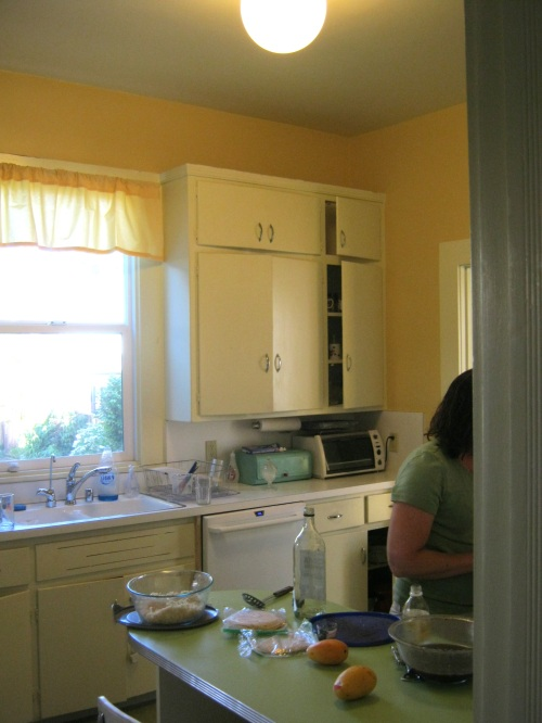 We did add a dishwasher...and the client took away one curtain ruffle
