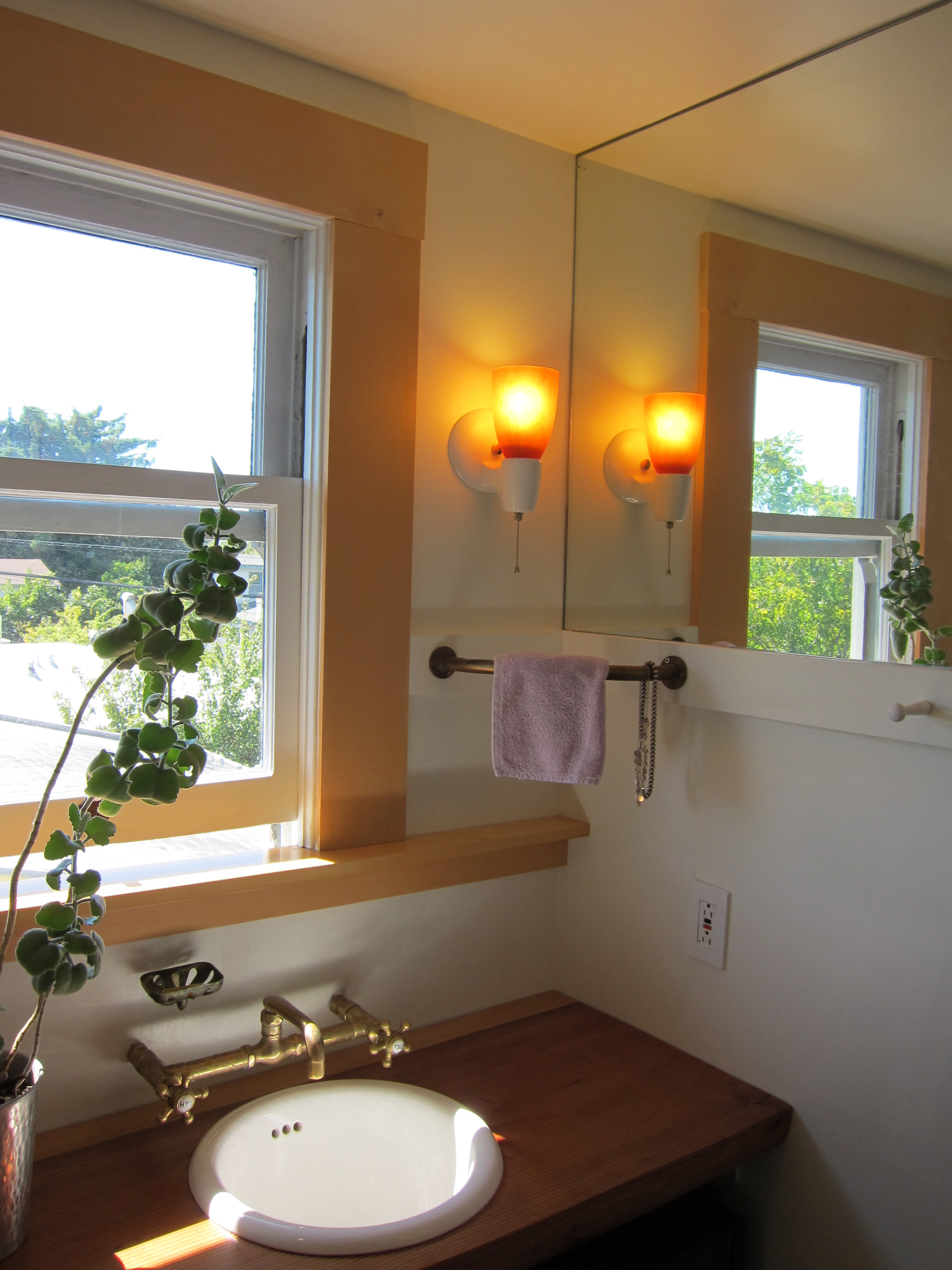 The Secondhand Unprotected Brass Faucets And Shower Valve Are From Ragnar  At The Sink Factory On San Pablo, And The Nicely Patinaed Soap Dish And  Towel Bar ...