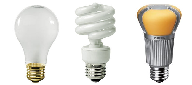 quick light bulb comparison old fashioned incandescent soon to be. Black Bedroom Furniture Sets. Home Design Ideas