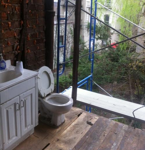 Fun during construction deedsdesign - Open air bathroom designs ...