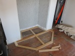 Framing the raised hearth