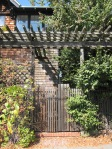 Cedar Street trellis and gate