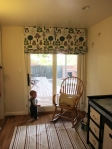 Sliding doors in nursery to deck