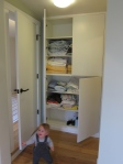 Lots of space in the linen cabinet