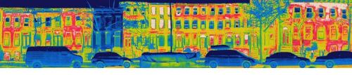thermal image of tight house