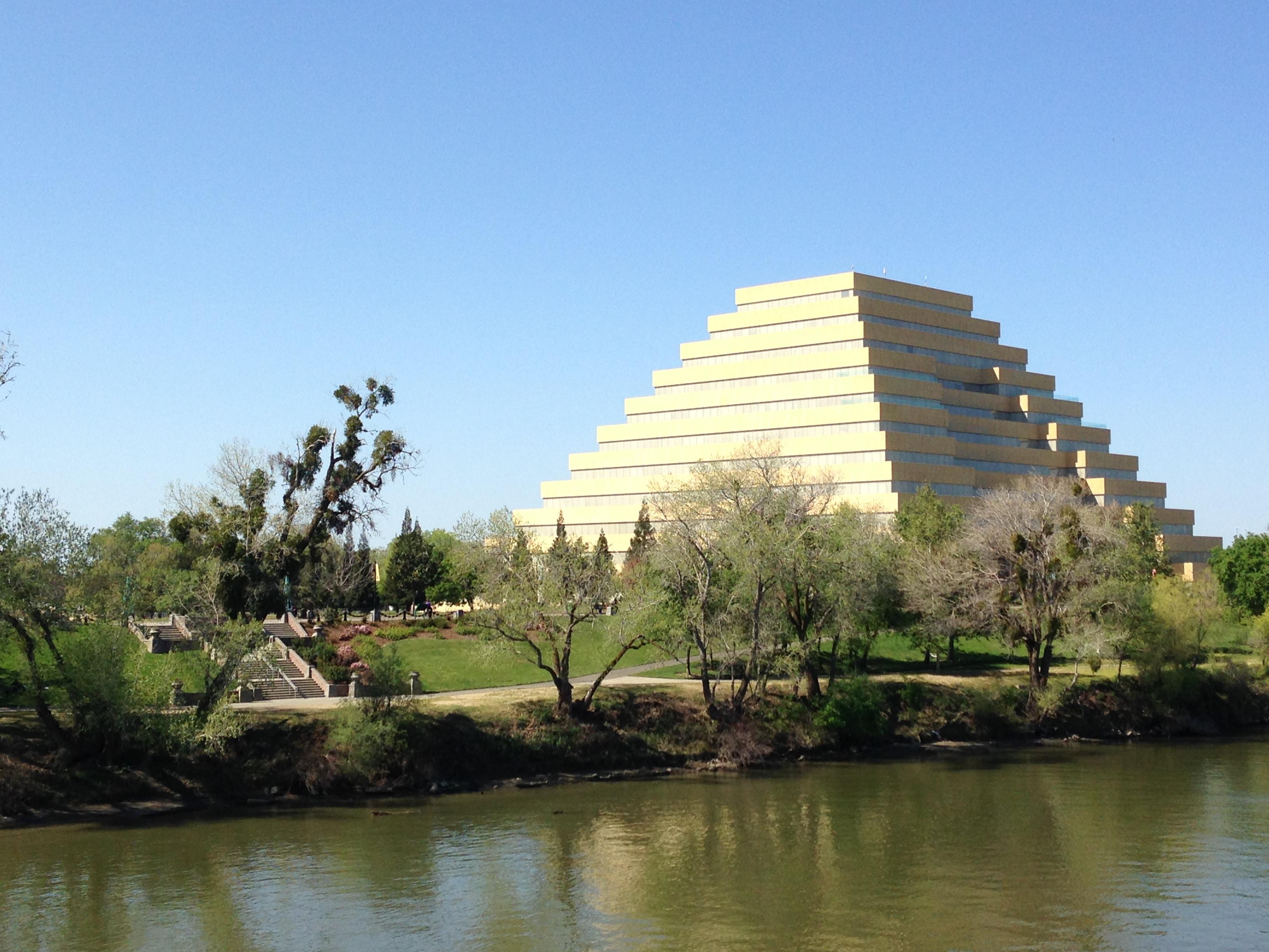 pyramid on the sacramento river