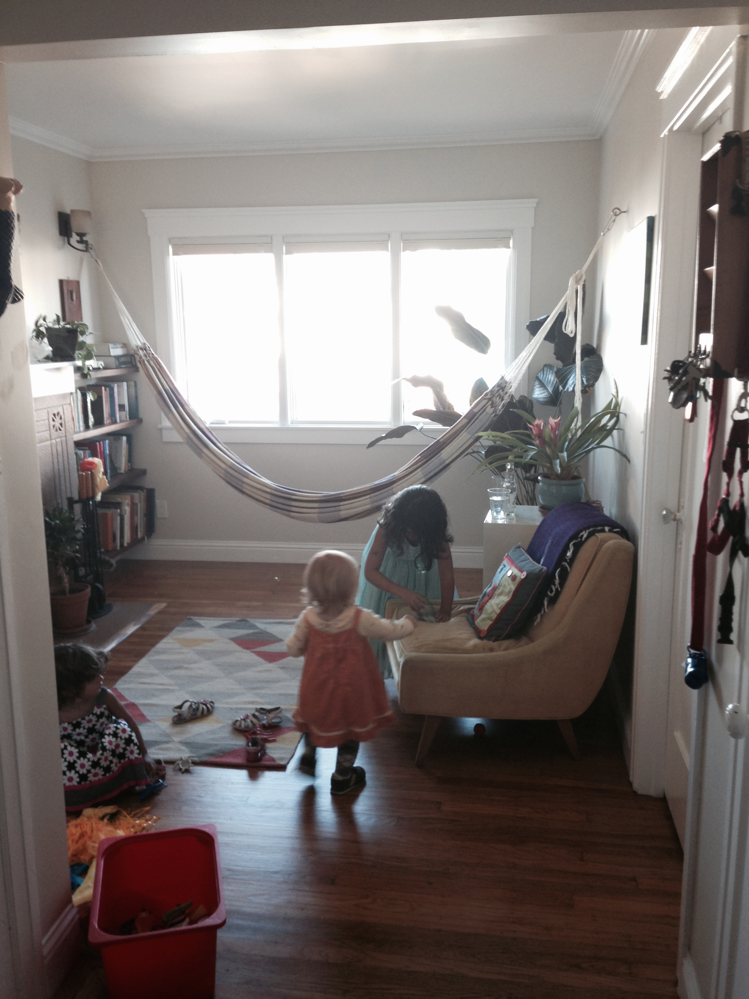 Front parlor with hammock