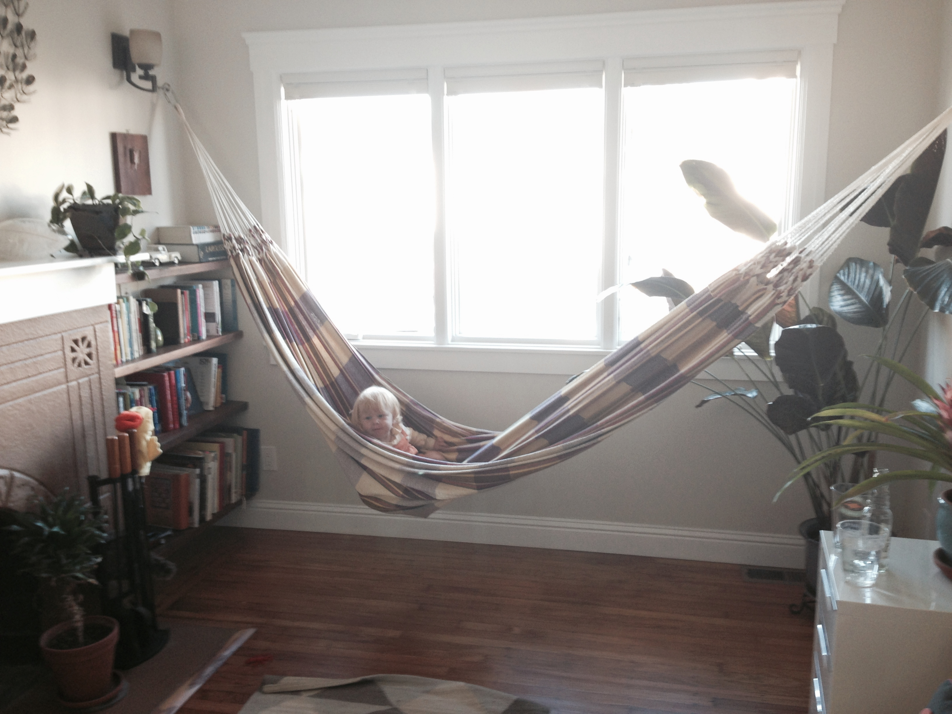 Willa testing out the hammock