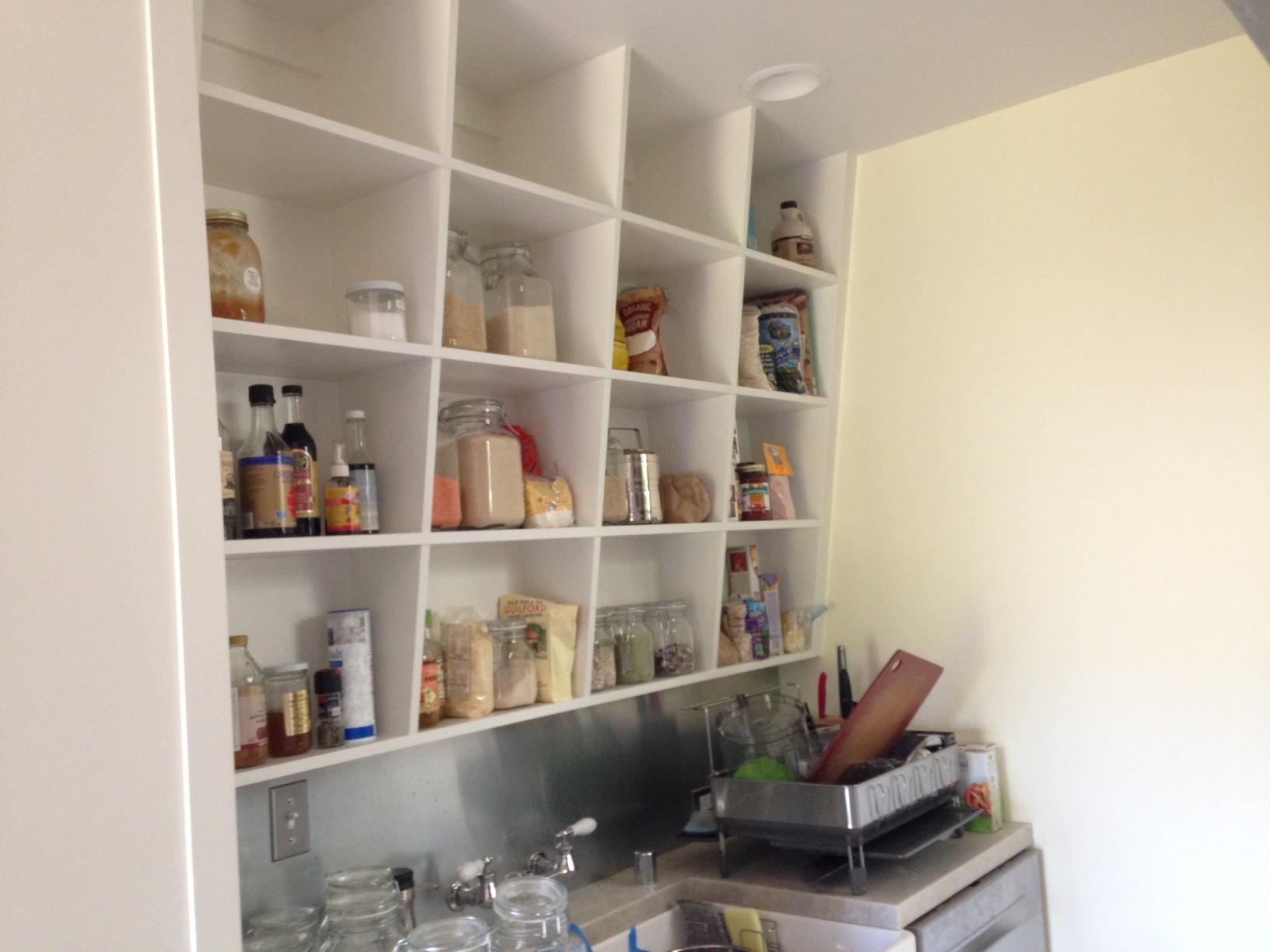 Angled Pantry Shelves 2