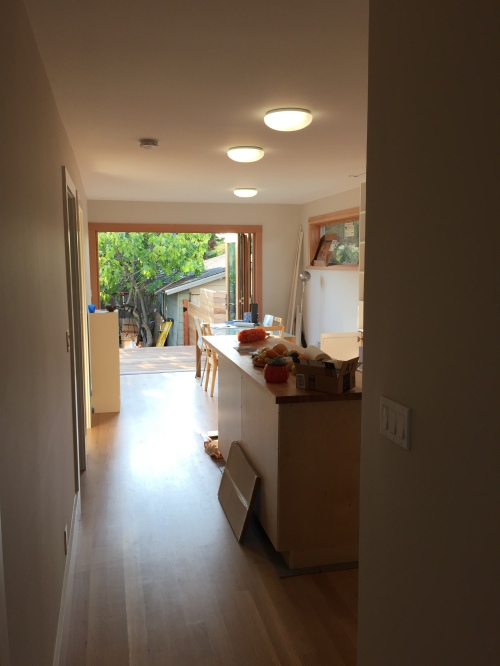 Looking back through the kitchen and dining room addition