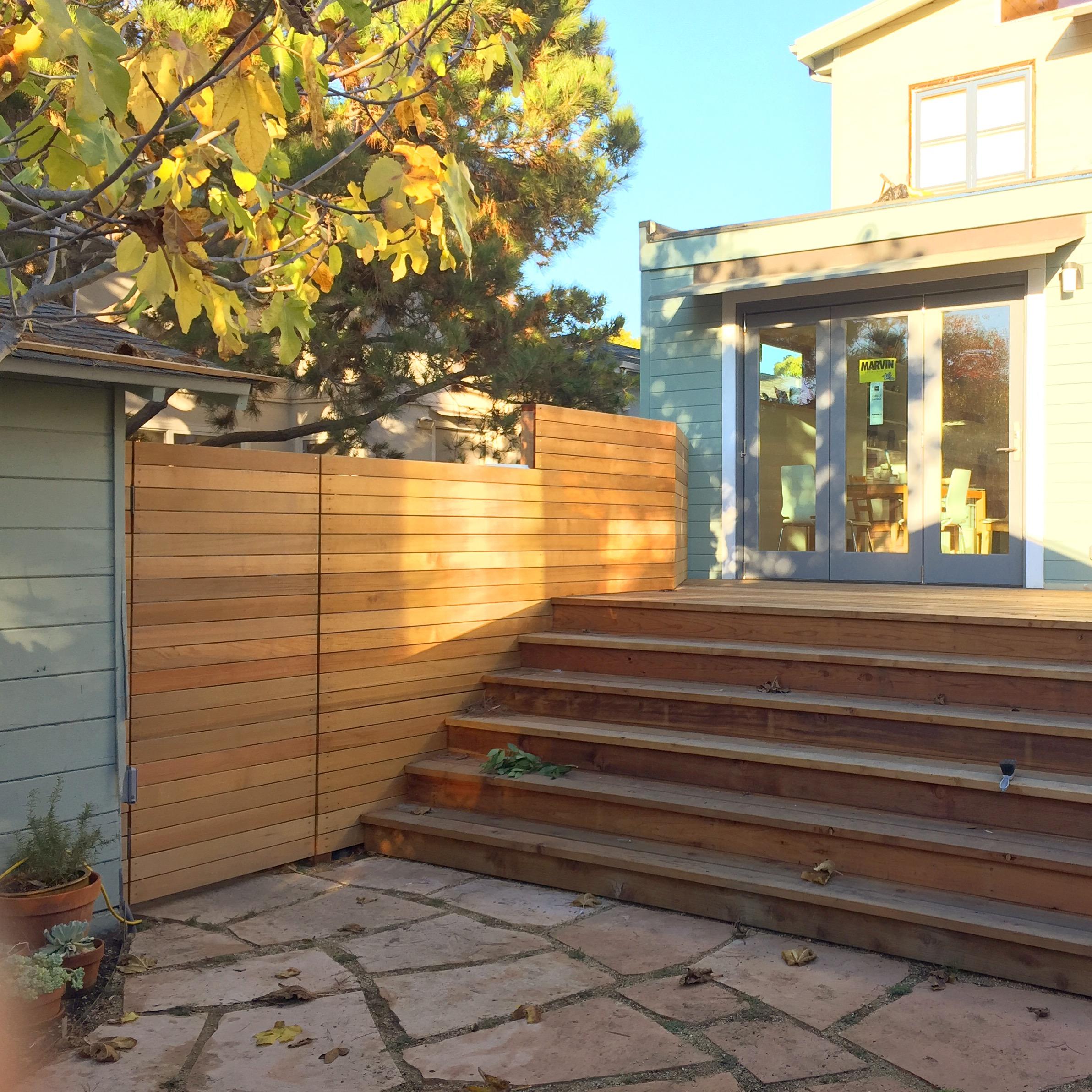 Valley street deck, patio, doors