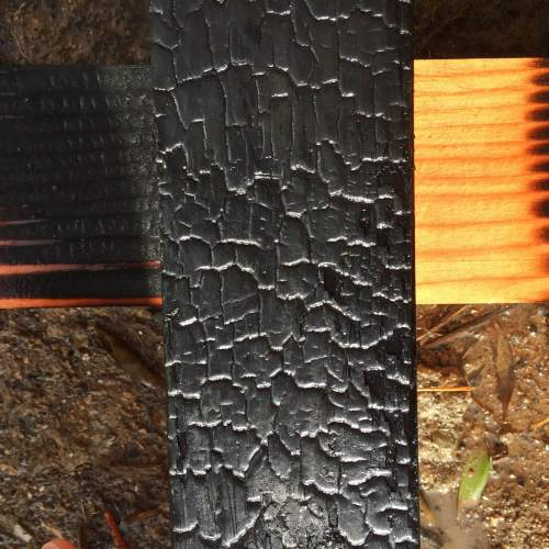 Heavily charred board